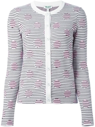 Kenzo 'Dots And Stripes' Cardigan Pink And Purple
