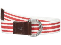 Cole Haan 38Mm D Ring Webbing Pinch Belt Red White Women's Belts