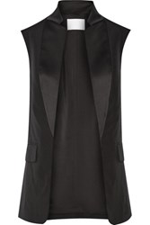 Alexander Wang Wool And Satin Vest Black