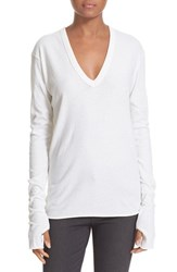 Enza Costa Women's Cotton And Cashmere Tee White