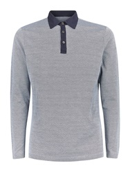 Aquascutum London Holbeck Texture Polo Blue