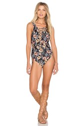 Beach Riot Kira One Piece Black