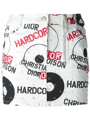 Christian Dior Vintage 'Hardcore' Print Mini Skirt