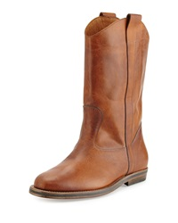 Maison Martin Margiela Distressed Leather Western Boot Brown Maison Margiela