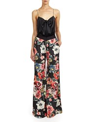 Alexis Mabille Jogging Trousers In Peony Print Black
