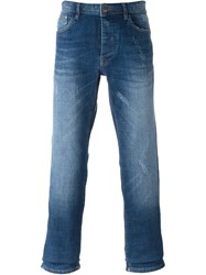 Iceberg Donald Duck Straight Leg Jeans Blue