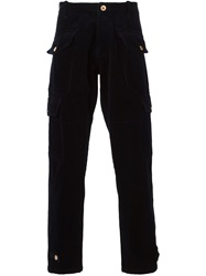 Bleu De Paname Patch Pocket Trousers Blue