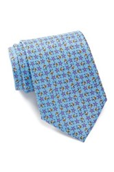 Tailorbyrd Angelfish Silk Tie Blue