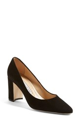Manolo Blahnik Women's 'Tuccioto' Almond Toe Pump Black Suede