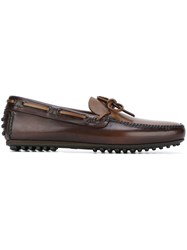 Car Shoe Knot Detail Loafers Brown