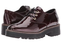 Shellys Terrwyn Burgundy Patent Women's Lace Up Casual Shoes