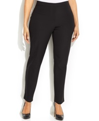 Calvin Klein Plus Size Cropped Dress Pants Black