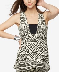 A Pea In The Pod Maternity Printed Sleeveless Top Black White