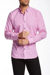 Jared Lang Checkered Long Sleeve Shirt Pink