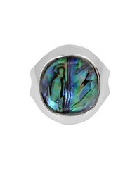 Robert Lee Morris Armored Architecture Abalone Silverplated Ring White