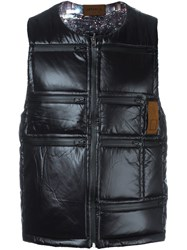 Letasca Quilted Zipped Vest Black