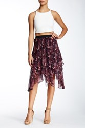 Twelfth St. By Cynthia Vincent Gypsy Silk Skirt Multi