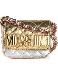 Moschino Mini Quilted Cross Body Bag Multicolour