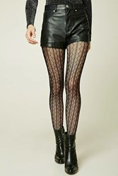 Forever 21 Open Knit Tights Black