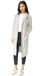 Minkpink Looped Out Waterfall Cardigan White Marl
