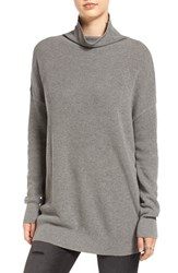 Women's Bp. Lightweight Turtleneck Grey Cloudy Heather