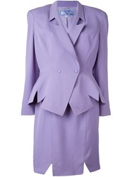 Thierry Mugler Vintage Skirt And Jacket Suit Pink And Purple