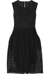 Maje Restano Guipure Lace And Tulle Dress Black