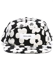 Soulland 'Walli' Flower Print Cap Black
