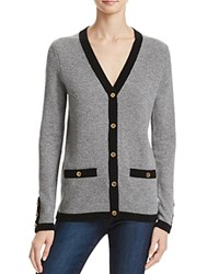 Bloomingdale's C By Button Cashmere Cardigan Slate Black