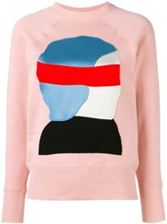 Marni Etka Sweatshirt Pink And Purple
