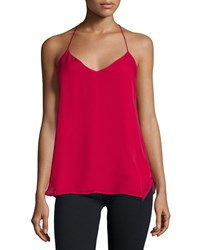 Haute Hippie T Strap Back Camisole Red Rose