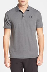 Under Armour Men's 'Performance 2.0' Sweat Wicking Stretch Polo Carbon Heather