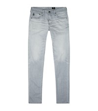 Ag Jeans Skinny Washed Whiskers Male Grey