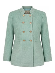 Yumi Double Breasted Pea Coat Mint