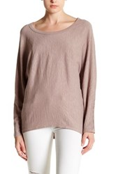 H By Bordeaux Long Sleeve Exposed Seam Dolman Tee Pink