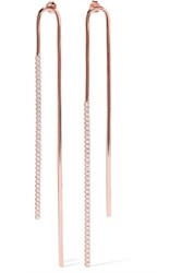 Ryan Storer Rose Gold Plated Swarovski Crystal Earrings