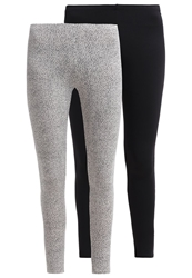Roxy 2 Pack Leggings Plain Black