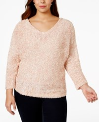 Jessica Simpson Plus Size Batwing Sleeve V Neck Sweater