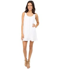 Michael Stars Double Gauze Tank Dress W Crochet White Women's Dress