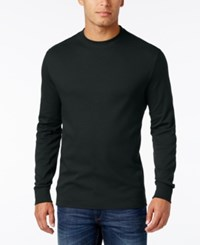 John Ashford Men's Big And Tall Interlock Crew Neck T Shirt Only At Macy's Deep Black