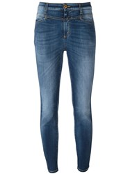 Closed High Waist Skinny Jeans Blue