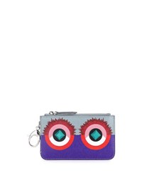 Fendi Monster Leather Key Pouch Purple Blue Red Purple Blue Red