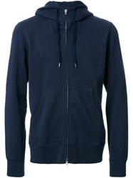 Attachment Zipped Hoodie Blue