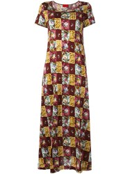 Kenzo Vintage Patchwork Print T Shirt Dress Multicolour