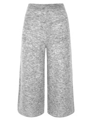 Whistles Mohair Knitted Culotte Light Grey