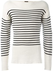 Jean Paul Gaultier Vintage Striped Sailor Jumper Nude And Neutrals