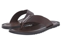 Massimo Matteo Vitello Perf Thong Marrone Men's Sandals Brown