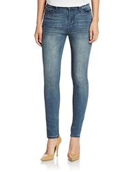 Lee Cooper High Rise Skinny Jeans Worn Out Blue