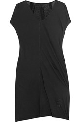 Rick Owens Cotton Jersey Tunic Black
