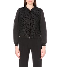 Claudie Pierlot Vamos Lace And Shell Jacket Noir